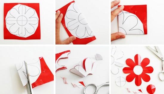 como fazer adesivos parede flores decoracao quarto (2)