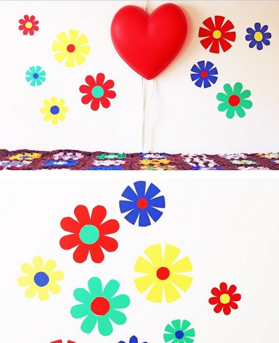como fazer adesivos parede flores decoracao quarto (5)