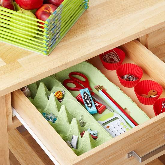 11 dicas truques organizar casa caixa ovos organizar pequenos objetos gavetas (4)