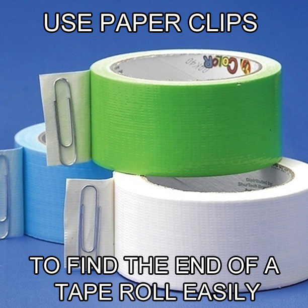 11 dicas truques organizar casa clips achar ponta fita adesiva  (8)