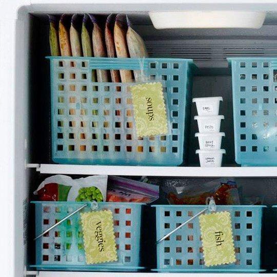 11 dicas truques organizar casa cozinha cestas organizar alimentos congelador  (10)