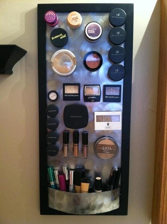 11 dicas truques organizar casa tabua magnetica guardar maquiagens (9)