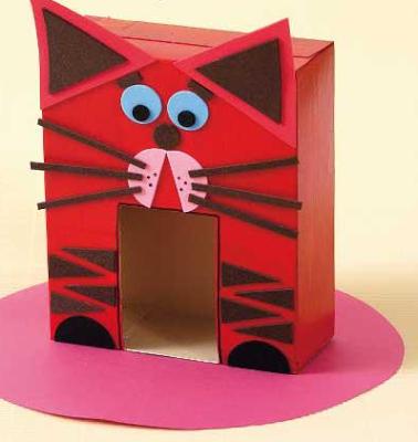 brinquedo reciclado casinha gatinho