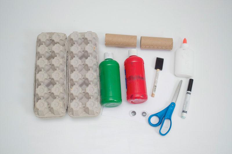 como fazer brinquedo reciclado jacare caixa de ovos crincas sala de aula escola projeto reciclagem (4)