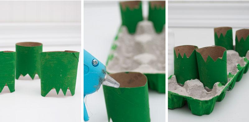 como fazer brinquedo reciclado jacare caixa de ovos crincas sala de aula escola projeto reciclagem (7)