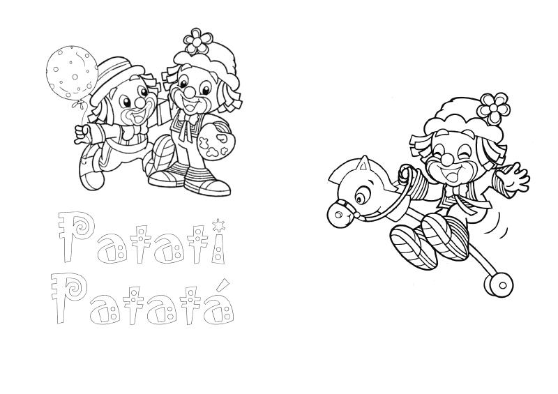 desenhos colorir patati patata palhaco festa aniversario lembrancinhas infantil convites (2)