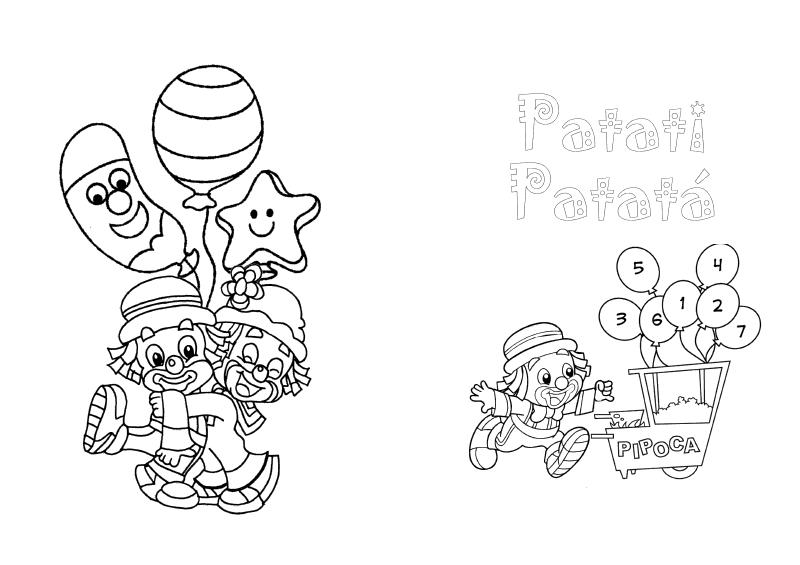 desenhos colorir patati patata palhaco festa aniversario lembrancinhas infantil convites (3)