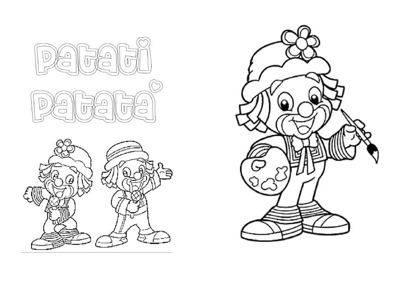 desenhos colorir patati patata palhaco festa aniversario lembrancinhas infantil convites (4)