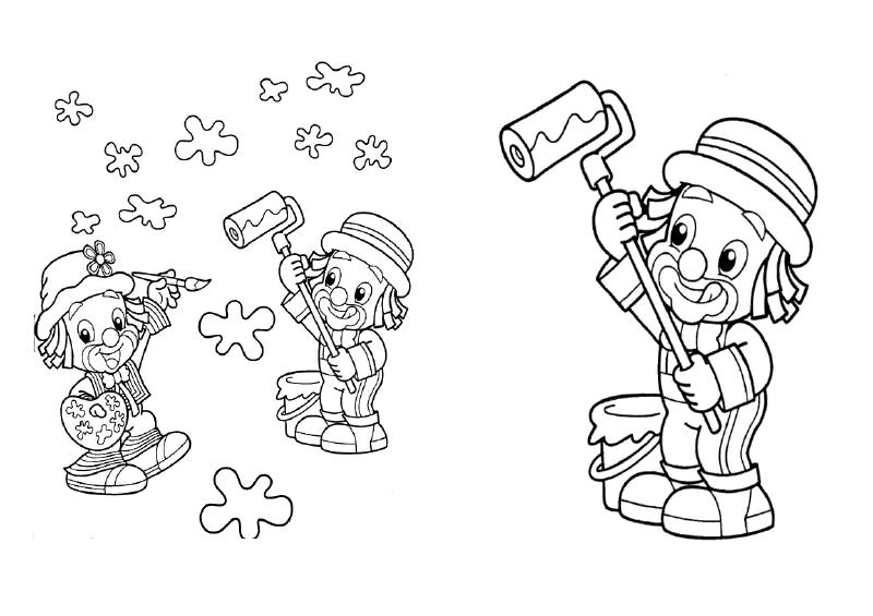 desenhos colorir patati patata palhaco festa aniversario lembrancinhas infantil convites (5)