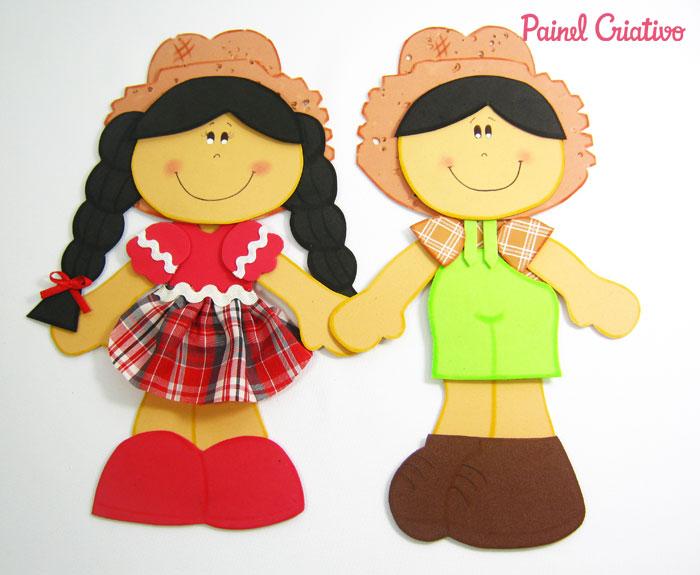 modelo casal caipira em eva decoracao  mural escolar festa junina (1)