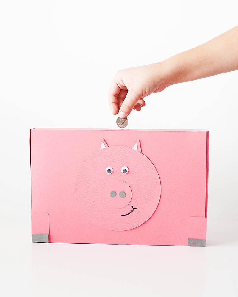 como fazer cofrinho caixa de cereal porquinho e robo (6)