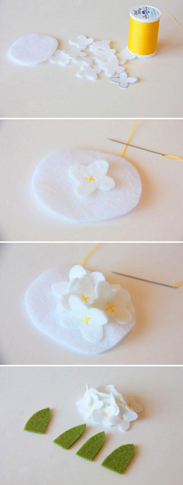 como fazer enfeite cabelo feltro meninas bebe (4)