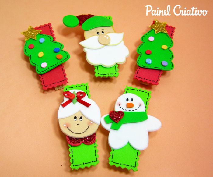 como-fazer-lembrancinha-natal-pregadores-natalinos-papai-noel-mamae-noel-arvore-de-natal-boneco-de-neve-2