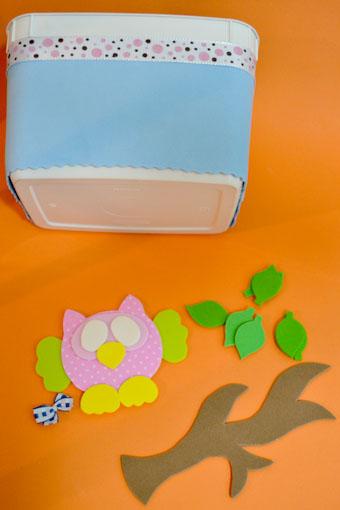 como fazer porta trecos corujinha EVA pote sorvete artesanato (4)