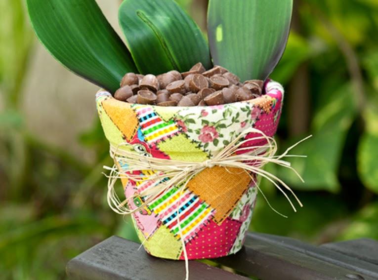 como fazer vasinho ceramica decorado decoupage tecido deocracao casa vaso plantinhas (1)
