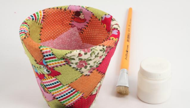 como fazer vasinho ceramica decorado decoupage tecido deocracao casa vaso plantinhas (3)
