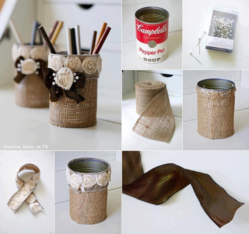reciclagem latinha decoradas leite em po extrato de tomate porta trecos porta lapis decoracao casa (2)