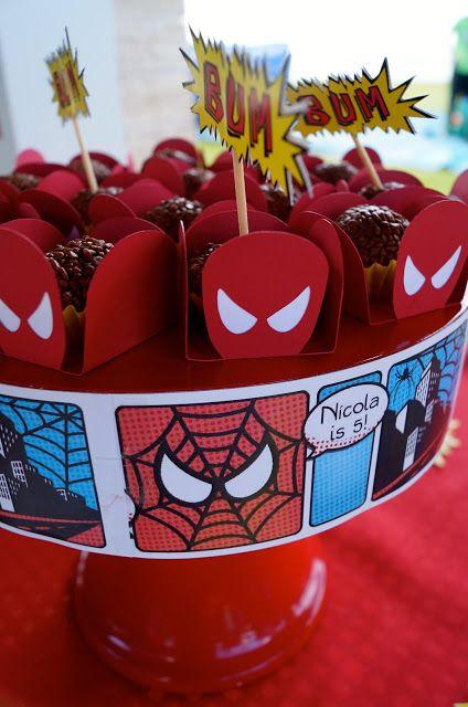 10 ideias decoracao festa aniversario homem aranha bolo lembrancinha enfeites criancas 6