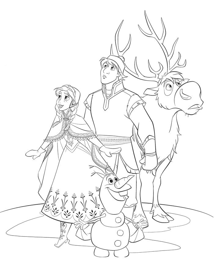 8 desenhos imprimir colorir frozen pricensa elsa anna 2