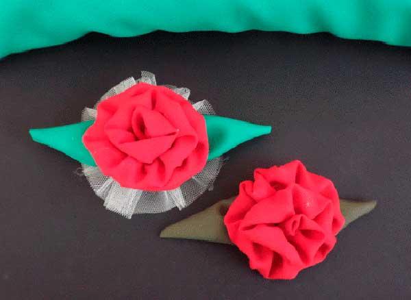Como fazer flor tecido decoracao almofadas enfeite cabelo menina 1