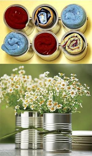 como raproveitar latinhas reciclagem porta lapis lembrancinhas porta trecos vasinhos de flores 8