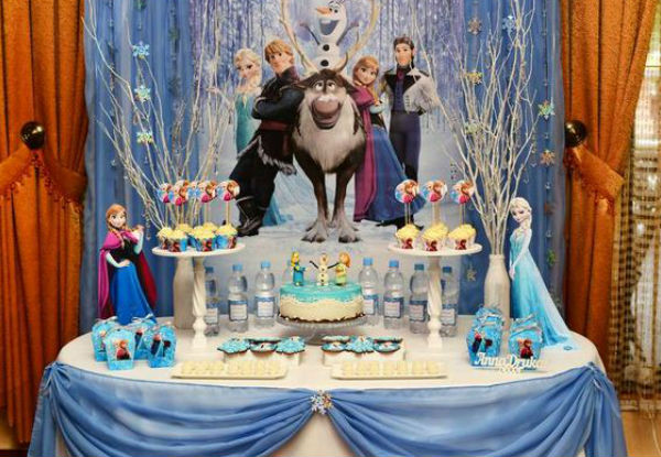 10 ideias festa aniversario menina frozen princesa elsa olaf ideias decoracao mesa doces lembrancinhas (2)