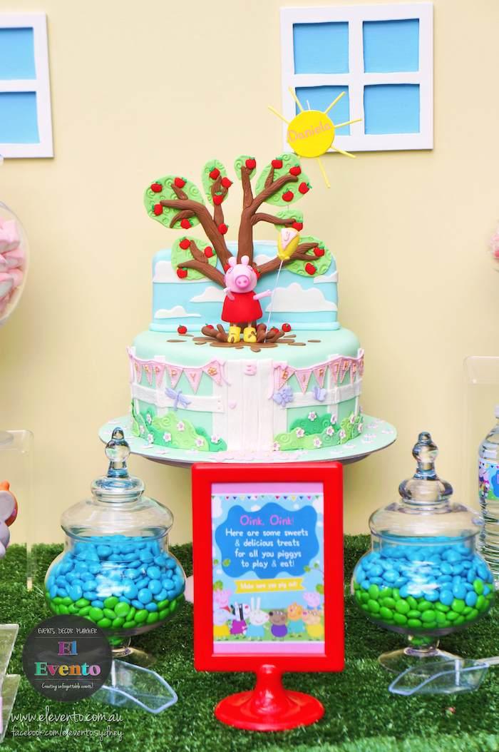 ideia festa aniversario infantil peppa pic criancas mesa de doces bolos  (4)