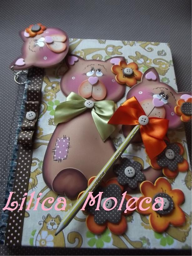 modelo lembrancinha capa caderno decorado gatinho eva molde meninas  (1)