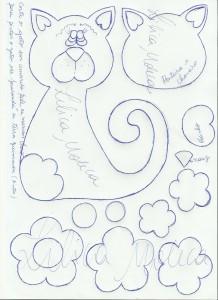 modelo lembrancinha capa caderno decorado gatinho eva molde meninas  (2)