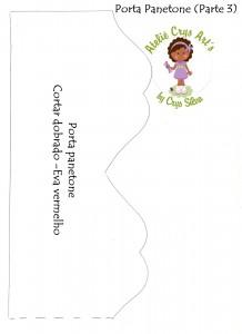 modelo porta panetone papai noel EVA lembrancinha familia amigos artesanato 2
