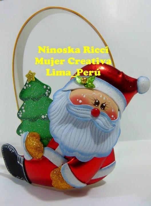 molde papai noel EVA lembrancinha natalina criancas artesanato 2