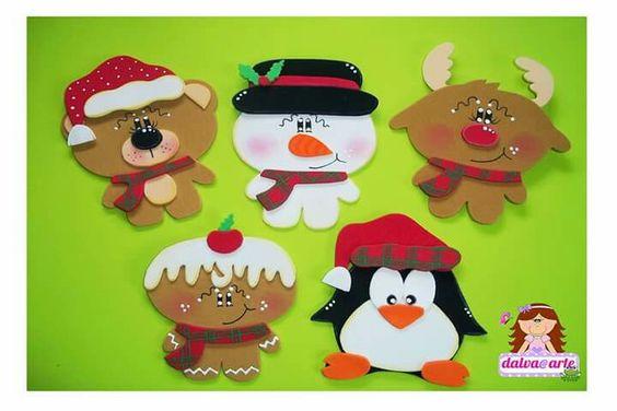 moldes enfeites arvore natal decoracao natalina EVA casa artesanato 1