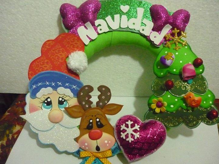 moldes guirlanda papai noel natal EVA decoracao casa sala de aula escola artesanato 1