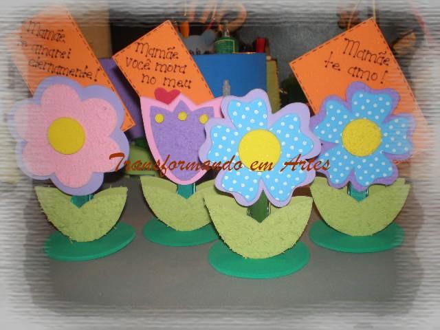 passo a passo porta recado florzinha EVA lembrancinha dia das maes dia dos professores artesanato 2