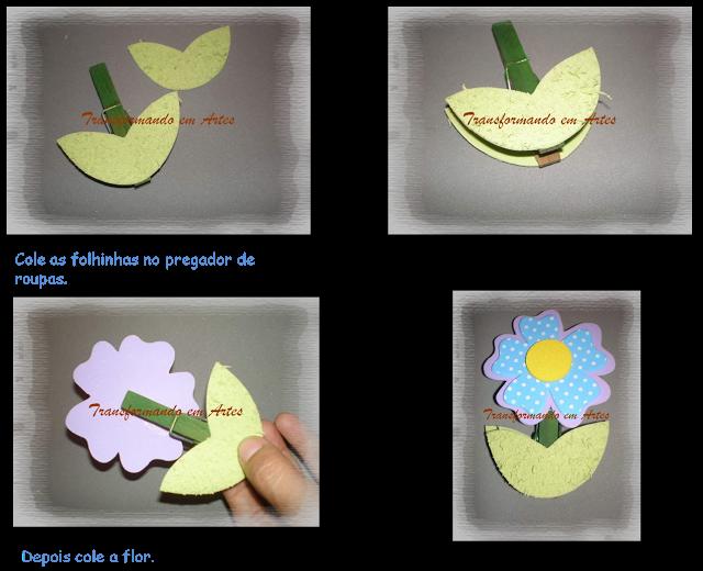 passo a passo porta recado florzinha EVA lembrancinha dia das maes dia dos professores artesanato 5