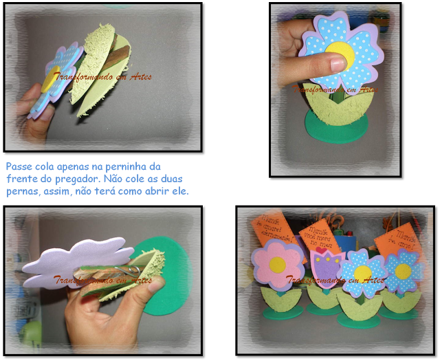 passo a passo porta recado florzinha EVA lembrancinha dia das maes dia dos professores artesanato 6