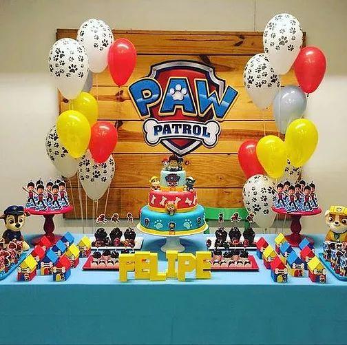 10 ideias festa aniversario patrulha canina menino decoracao mesa doces lembrancinha