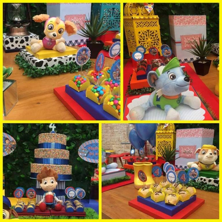 10 ideias festa aniversario patrulha canina menino decoracao mesa doces lembrancinha 1