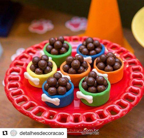 10 ideias festa aniversario patrulha canina menino decoracao mesa doces lembrancinha 2