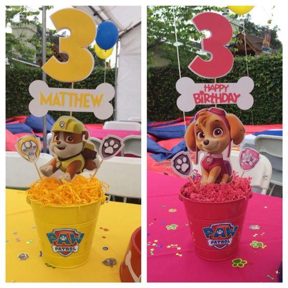 10 ideias festa aniversario patrulha canina menino decoracao mesa doces lembrancinha 3