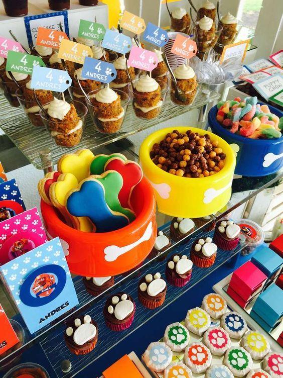 10 ideias festa aniversario patrulha canina menino decoracao mesa doces lembrancinha 4