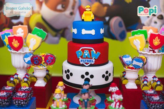 10 ideias festa aniversario patrulha canina menino decoracao mesa doces lembrancinha 7