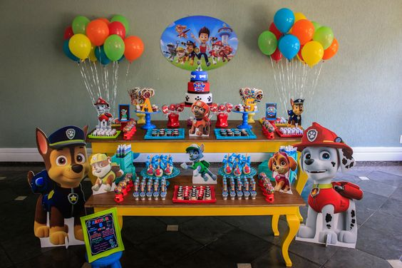 10 ideias festa aniversario patrulha canina menino decoracao mesa doces lembrancinha 9