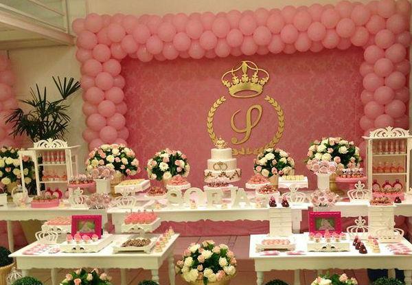 15 ideias festa infantil pricesas menina decoracao mesa doces lembrancinhas bolo aniversario 1