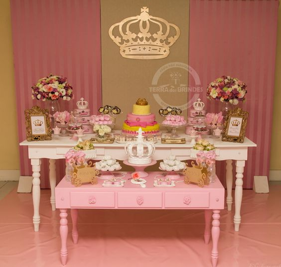 15 ideias festa infantil pricesas menina decoracao mesa doces lembrancinhas bolo aniversario 12