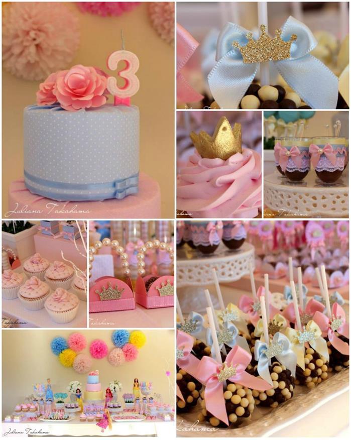 15 ideias festa infantil pricesas menina decoracao mesa doces lembrancinhas bolo aniversario 14