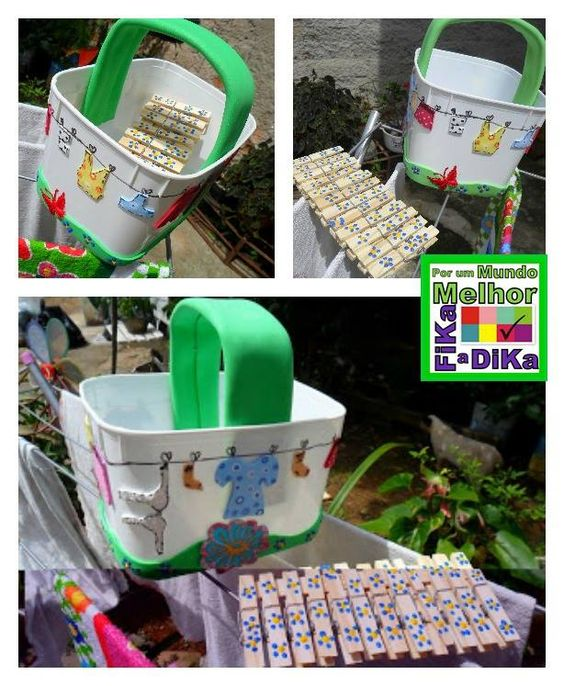 8 ideias reciclagem pote margarina porta trecos brinquedo vasinho plantas 1