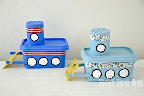 8 ideias reciclagem pote margarina porta trecos brinquedo vasinho plantas 5