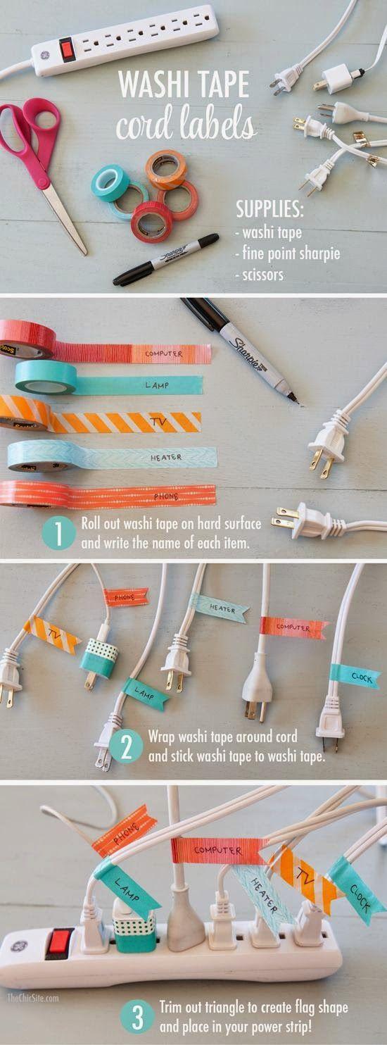 12 ideias criativas decorar objetos fitas washi tape artesanato decoracao casa