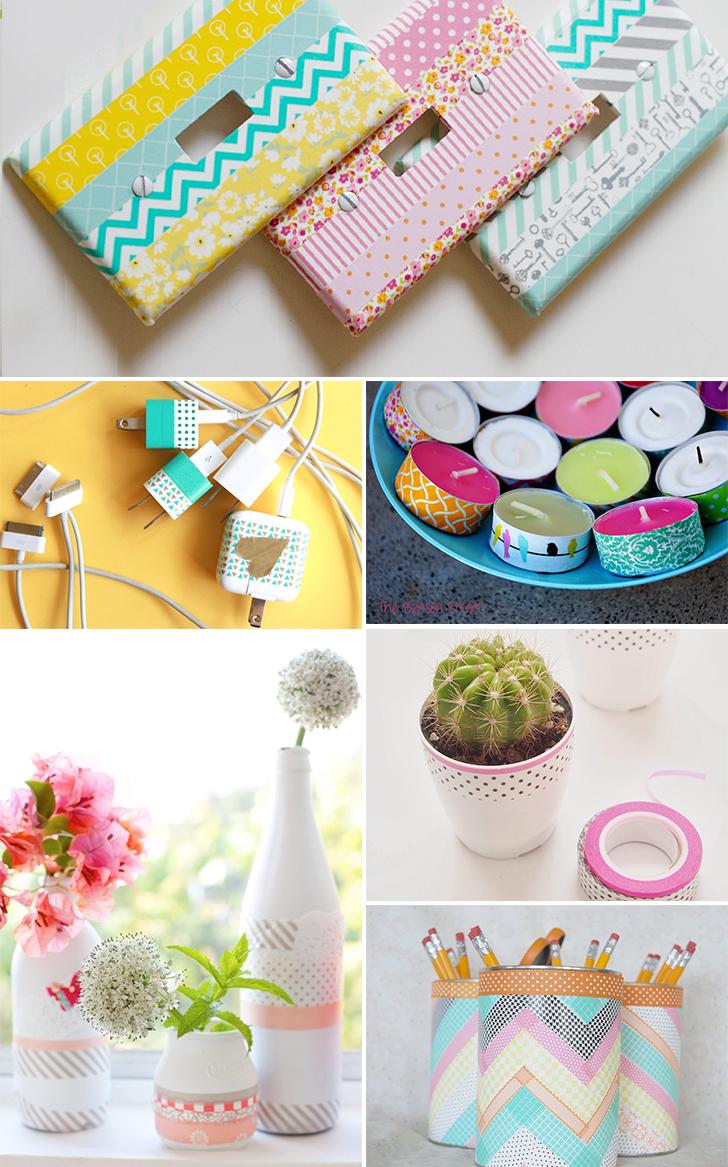 12 ideias criativas decorar objetos fitas washi tape artesanato decoracao casa 1